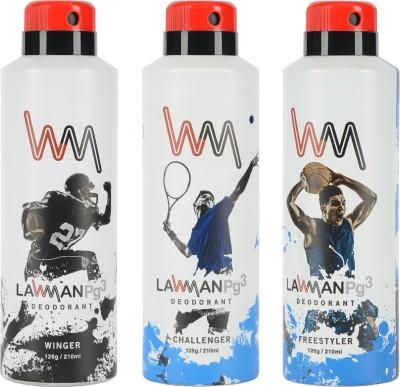 LAWMAN PG3 Winger, Challenger Freestyler Deodorant Spray  -  For Men