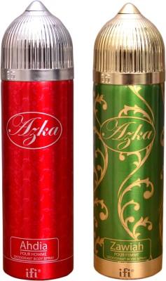 AZKA 1 AHDIA::1 ZAWIAH Deodorant Spray  -  For Men, Women