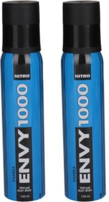 Envy 1000 Nitro Deodorant Spray (Pack of 2) Body Mist - For Women(260 ml)