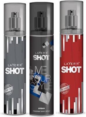 Layer,R Shot Power Play , Urban, Red Stalian Fragrance Body Spray Deodorant Spray  -  For Men