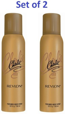 Revlon REVLON CHARLIE GOLD PERFUMED BODY SPRAY Deodorant Spray  -  For Women
