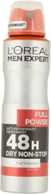 L,Oreal Paris Full Power 48 Hours Dry Non-Stop Deodorant Spray  -  For Men