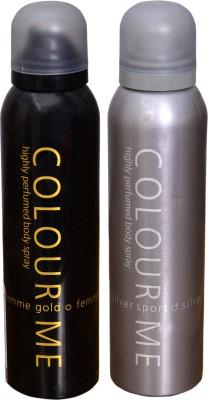 COLOR ME 1 FEMME GOLD::1 SPORT SILVER DEO Deodorant Spray  -  For Men