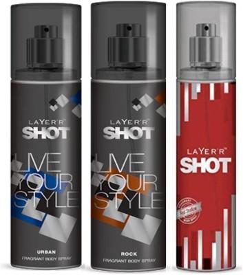 Layer,R Shot Urban, Rock, Red Stalian Fragrance Body Spray Deodorant Spray  -  For Men