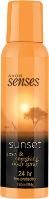 Avon Senses Sunset/Recharge Body Spray  -  For Women, Girls
