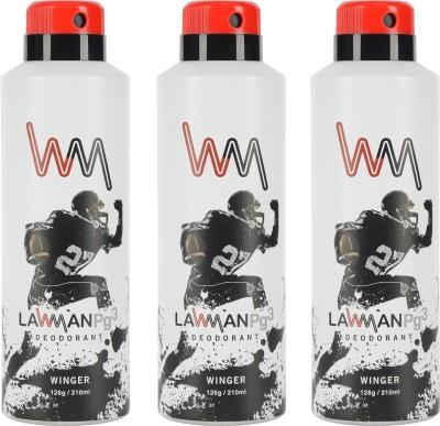 LAWMAN PG3 Winger Deodorant Spray  -  For Men