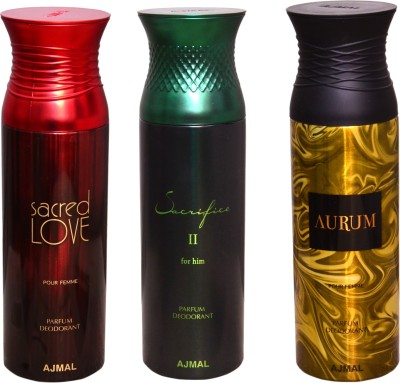 AJMAL 1 SACRED LOVE::1 SACRIFICE FOR HIM::1 AURUM Deodorant Spray  -  For Men