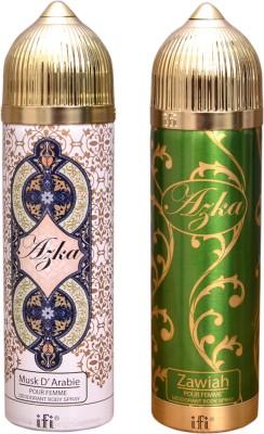 AZKA 1 MUSK D, ARABIE::1 ZAWIAH Deodorant Spray  -  For Men, Women
