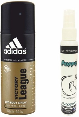 Adidas Adidas Victory League Deo + Poppy Spray Freshener Cologne Free Deodorant Spray  -  For Boys, Girls, Men, Women