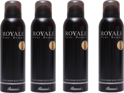 Rasasi 4 Royale Men Deodorant Spray  -  For Men
