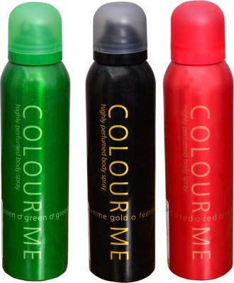 COLOR ME 1 GREEN::1 RED::1 FEMME GOLD DEO Deodorant Spray  -  For Men