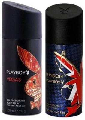 Playboy London And Vegas Deodorant Spray - For Boys, Men(150 ml)