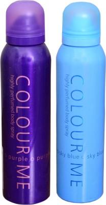 COLOR ME 1 PURPLE::1 SKY BLUE DEO Deodorant Spray  -  For Women