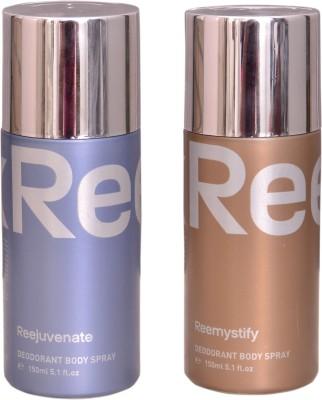 Reebok REEJUVENATE::REEMYSTIFY Deodorant Spray  -  For Men & Women(300 ml) at flipkart