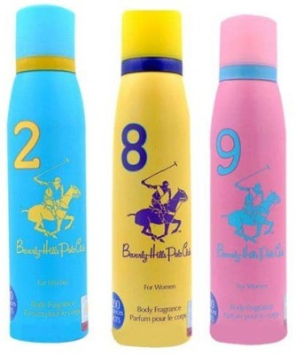 Beverly Hills Polo Club Women Deo no. 2, 8, 9 Deodorant Spray  -  For Women(450 ml) at flipkart