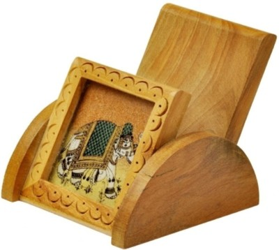 Bajya Gemstone Painting Mobile Stand Gift 1 Compartments Wooden Stand