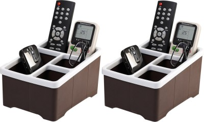 Lifestyle-You HH45 4 Compartments Plastic 2 Pcs Remote Control Stand