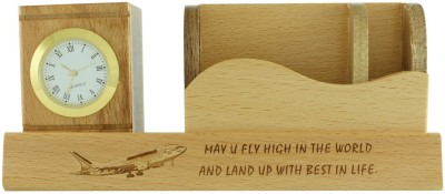 Radius In Fly High 4 Compartments wooden Pen Stand
