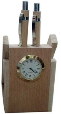 ShopnGift Wood-001 2 Compartments Wood Pen Stand