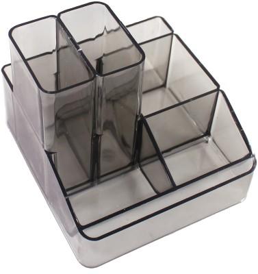 Kebica Multi Purpose 6 Compartments Plastic Desk Organizer