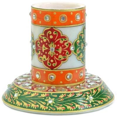 Kriti Creations Meenakari 1 Compartments Stoneware Pen Holder