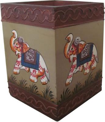 Atulaya Rajasthani Hand Made Art 1 Compartments Wood Pen Stand