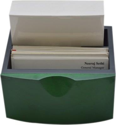 Knott 2 Compartments Wooden Slip Holder Cum Business Card Holder
