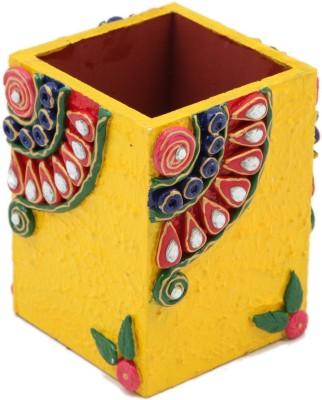 JaipurCrafts Decorative Premium 1 Compartments Wooden Pen Stand