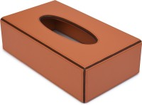 State of the Art 1 Compartments Leather Tissue Box Cover(Tan)