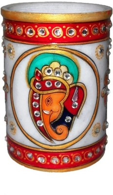 Crafts Paradise Marvellous Ganesha Design 1 Compartments Marble Pen Stand