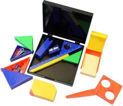 HitPlay Puzzle Stationary Set 1 Compartments ABS Desk Set