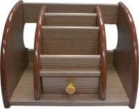 Jaycoknit Klassique 5 Compartments Wooden Letter Holder(Brown)