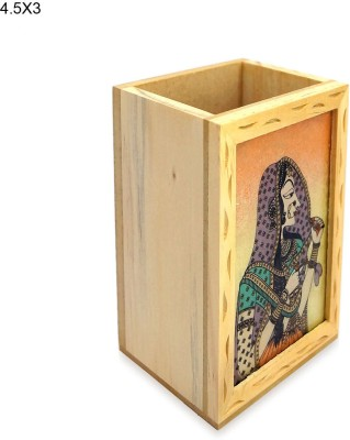 R S Jewels Cases 1 Compartments Wooden, Gemstone Pen Stand