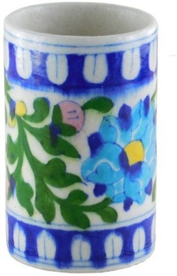 Chave 1 Compartments Blue Pottery Pen Holder