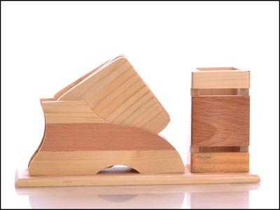 RajLaxmi 3 Compartments wooden Desk Organizer