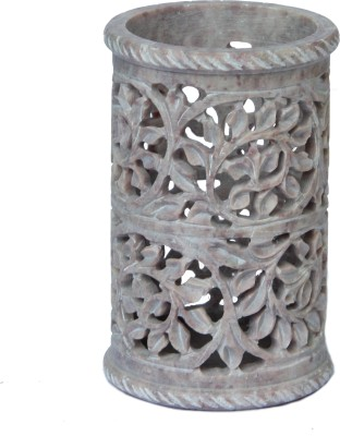 D,Kraft ,N, Kulture Carving of leaves & Vines 1 Compartments Stone Penstand