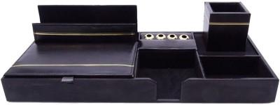 Kebica 9 Compartments Faux Leather Desk Organizer