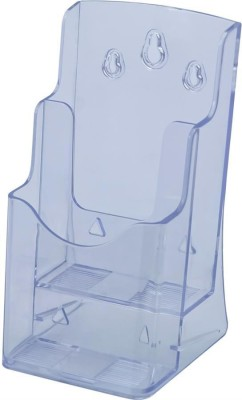 Kebica 2 Compartments Plastic 1/3 of A4 Size (4 x 9 inch) Trifold Brochure Holder Stand
