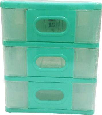 Hanbao Nokia Transparent 3 Compartments 100% Virgin Polypropylene Plastic Desk Organiser