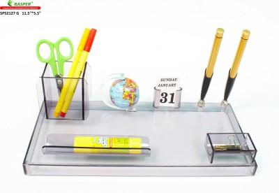 Rasper Multipurpose 3 Compartments Acrylic Pen Stand