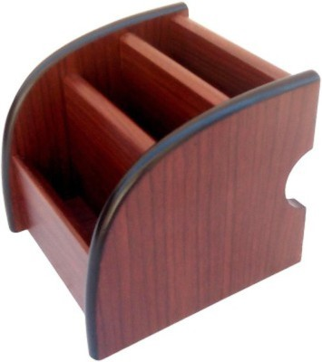 Craftatoz 3 Compartments wood mobile stand