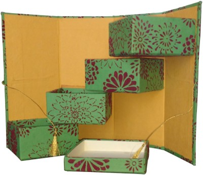 Shilpbazaar 4 Compartments Handmade Paper Utility Box