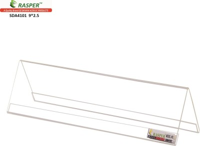Rasper 2 Compartments Acrylic Name Plate Table Desk