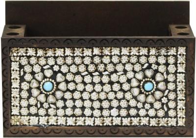 CraftJunction 5 Compartments Wooden Pen holder