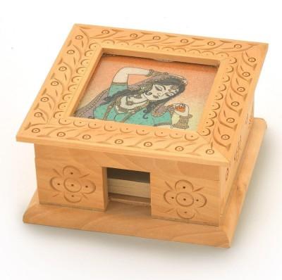 Shree Sai 1 Compartments Wooden SlIp Pad Box