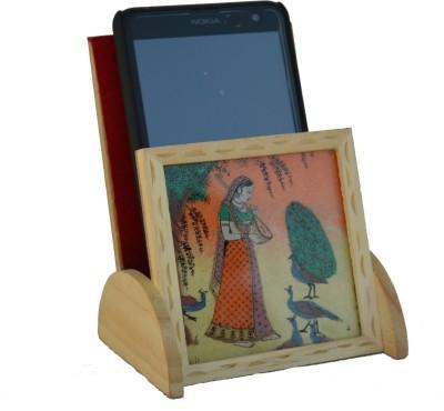 eCraftIndia ESR008 1 Compartments Wooden Mobile Holder