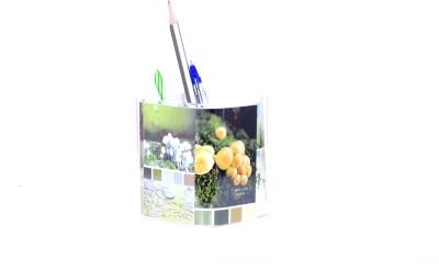 Chrome Multipurpose 1 Compartments Plastic Pen Stand
