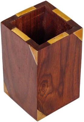 Craft Art India 1 Compartments Wooden Pen Stand