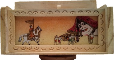 JaipurCrafts Designer 5 Compartments Wooden Pen Stand