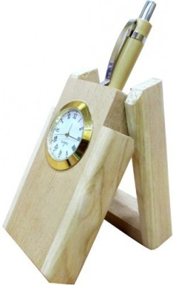 Brandcounty 1 Compartments Wood Wooden Pen Stand